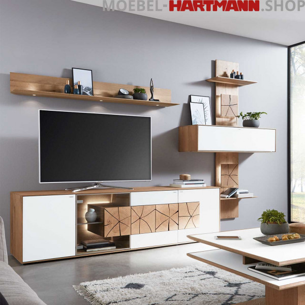 Hartmann Caya Wohnwand Vorschlagskombination Nr 60 W