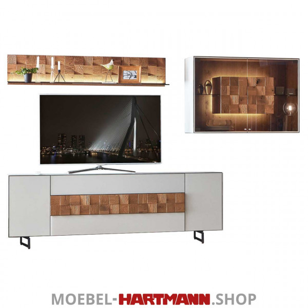 Hartmann Liv Leonardo - Wohnwand 7120W Nr. 20G grau