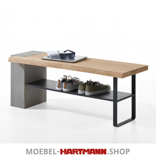 Hartmann Brik - Bank mit Holzbohle 3128