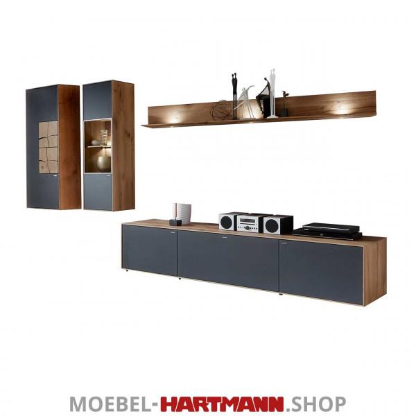 Hartmann Caya - Wohnwand 7170 Nr. 26 A S INKLUSIVE BELEUCHTUNG