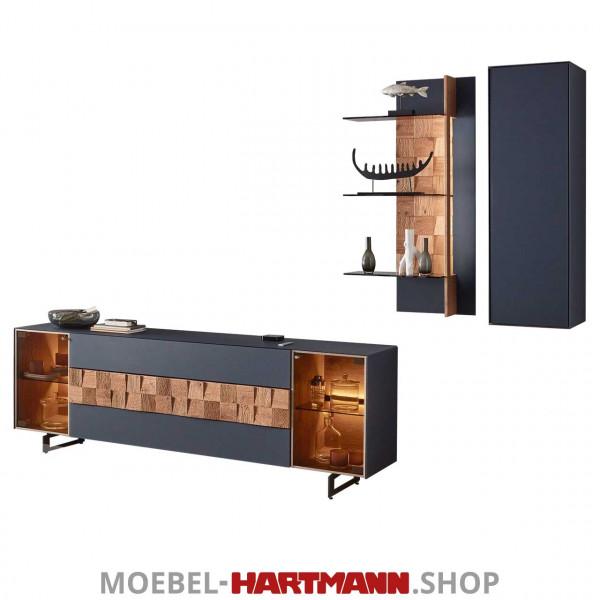 Hartmann Leonardo Liv - Wohnwand 7120W Nr. 24B blau