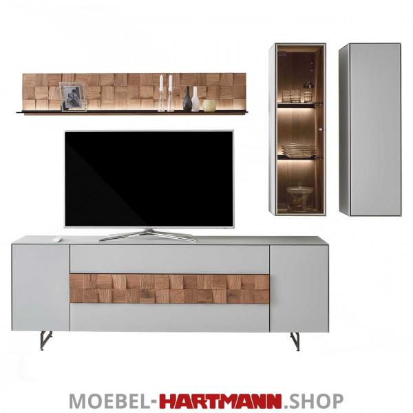 Hartmann Liv Leonardo - Wohnwand 7120W Nr. 26G grau