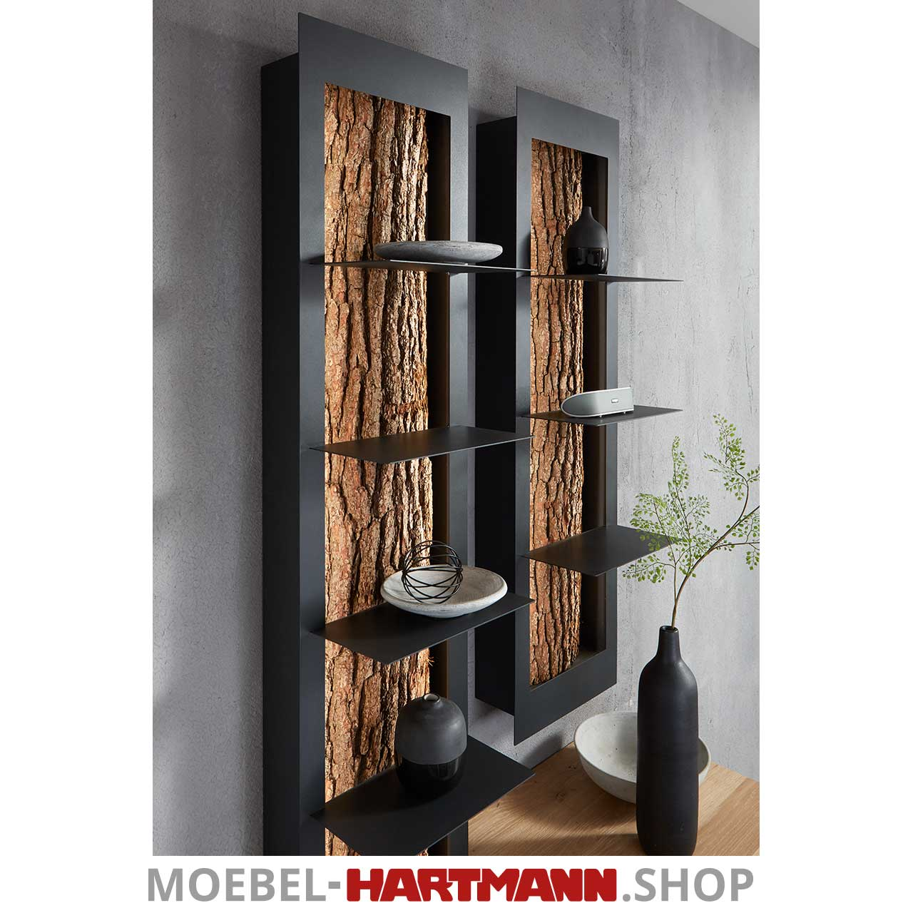 Hartmann Runa Regal Mit Rinde 8410 7031 Moebel Hartmann Shop