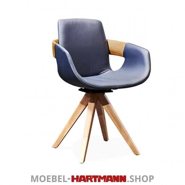 Hartmann Naturzeit - Armlehnstuhl Emil 7100E-1607 Kerneiche Umato